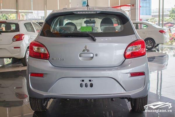 duoi xe mitsubishi mirage 2020 Xetot com 1 - Đánh giá Mitsubishi Mirage 2021, Mẫu Hatchback 5 cửa hạng B siêu rẻ