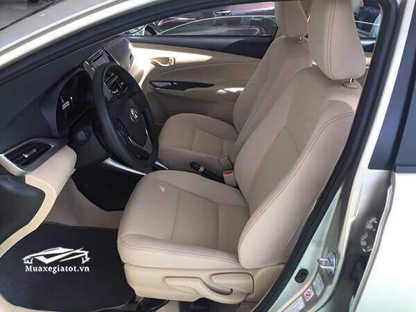 ghe truoc xe toyota vios 1 5 e cvt 2018 2019 muaxegiatot vn 7 - Chi tiết xe Toyota Vios E CVT 2021 (7 túi khí, Số tự động)
