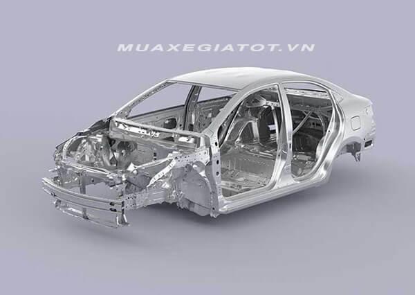 khung xe toyota vios 2018 2019 moi muaxegiatot vn 21 - Đánh giá xe Toyota Vios G 2021 (Số tự động)